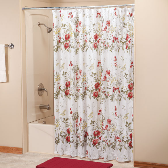 Ruby Meadow Shower Curtain by OakRidge Comforts™