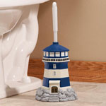 Bath Accessories - Lighthouse Toilet Brush Holder with Brush by OakRidge Accents™