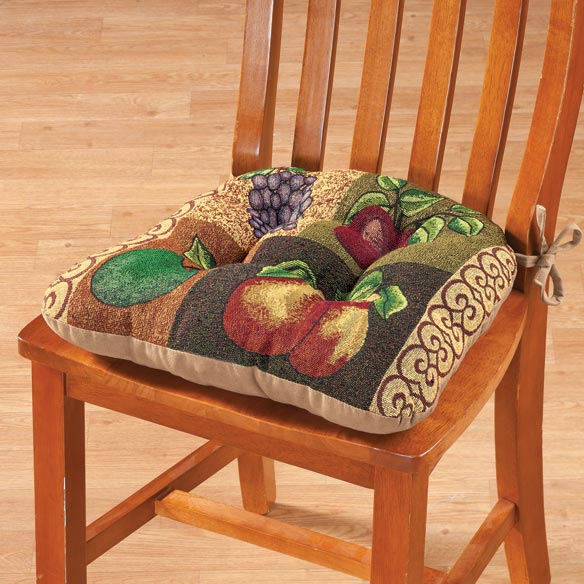 Reversible Fruit Chair Pad - View 1