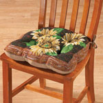 New - Reversible Sunflower Chair Pad