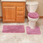 OakRidge Accents - 3-Piece Plush Geometric Bathroom Set by OakRidge Accents™