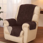 OakRidge Comforts - Reversible Plush to Suede Waterproof Recliner Protector by OakRidge™
