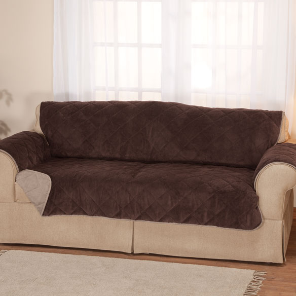 Plush to Suede Waterproof Sofa Protector by OakRidge Comforts™