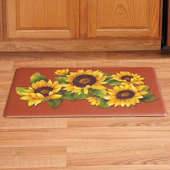 Sunflower Printed Anti-Fatigue Mat