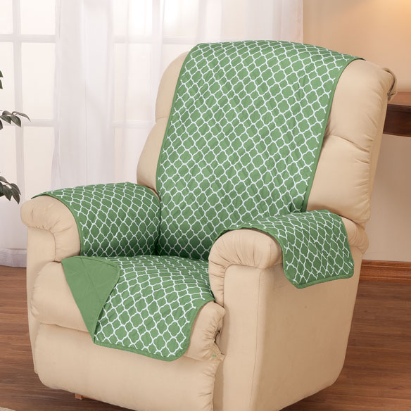Deluxe Reversible Fashion Recliner Cover by OakRidge Comforts™ - View 1