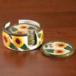 Table Top & Entertaining - Sunflower Coaster Set, 6 Pieces