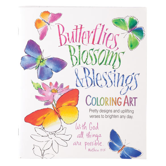 Butterflies, Blossoms & Blessings Coloring Book