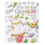 New - Believe, Hope, Dream Coloring Book