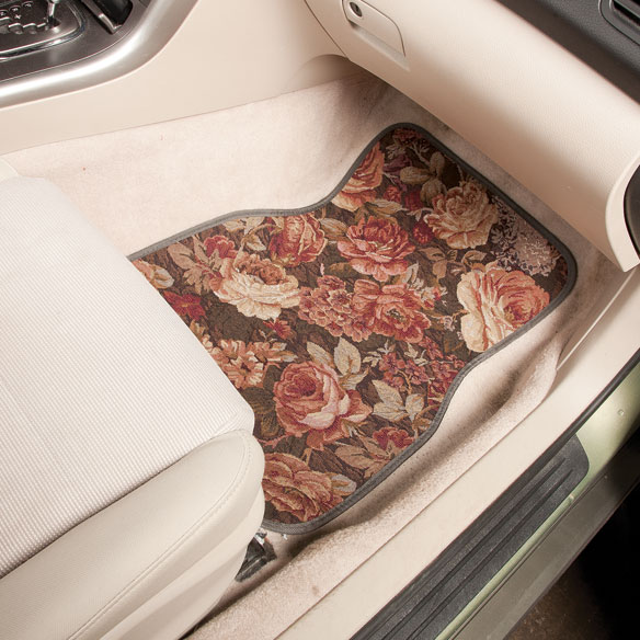 Floral Tapestry Car Mats Set of 4 - View 1