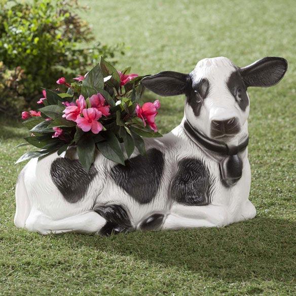 Christmas Blow Molds >> Plastic Cow Planter - Flower Planter - Outdoor Planters ...