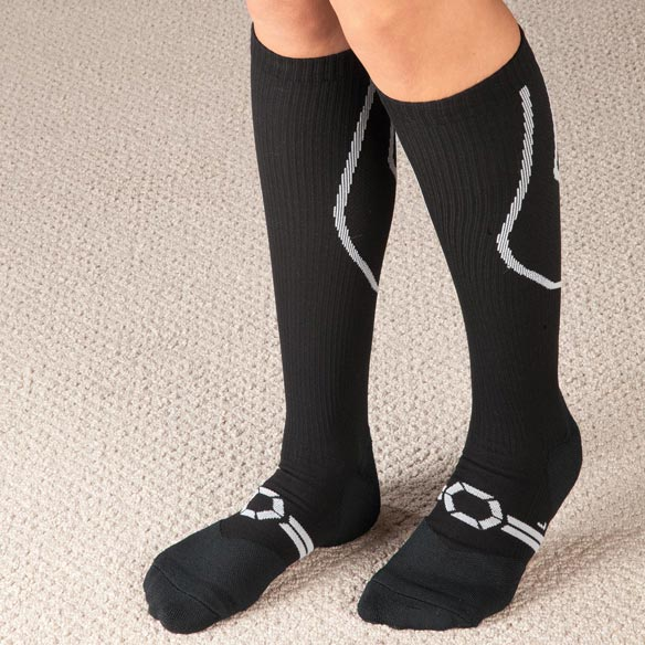 Silver Compression Socks, 20–30 mmHg