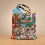 Handbags & Wallets - Cat Tapestry Tote Bag