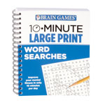 Books & Videos - Brain Games® 10-Minute Large Print Word Search Book