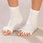 Mobility, Braces & Footcare - Comfy Toes Gel-Lined Alignment Socks