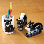 Cat Desk Accessories, Set of 3