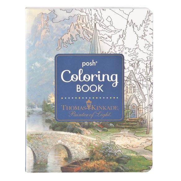 Thomas Kinkade Coloring Book - View 1