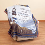 World Religion Day  - Lighthouse Blessings Tapestry Throw by OakRidge™