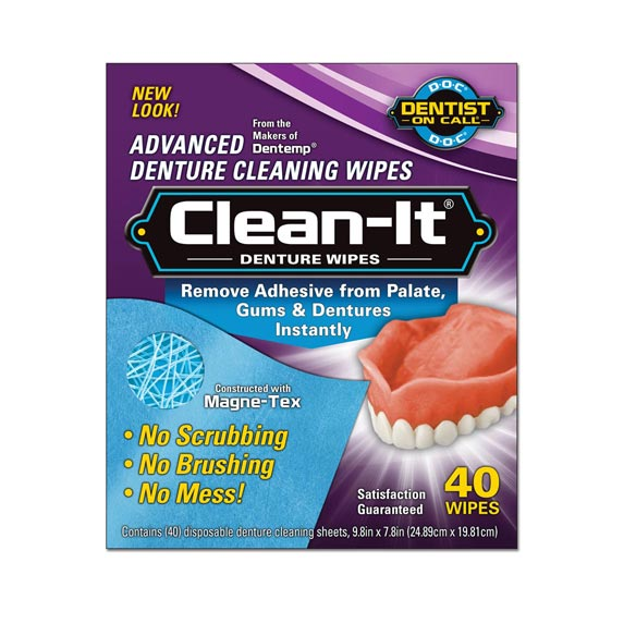 Clean-It®, 40 Denture Wipes