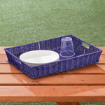 Outdoor Entertaining - Wicker Serving Tray