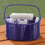 Outdoor Entertaining - Wicker Utensil Holder