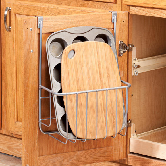Cutting Kitchen Cabinets: Over-the-Cabinet Pan & Cutting Board Storage