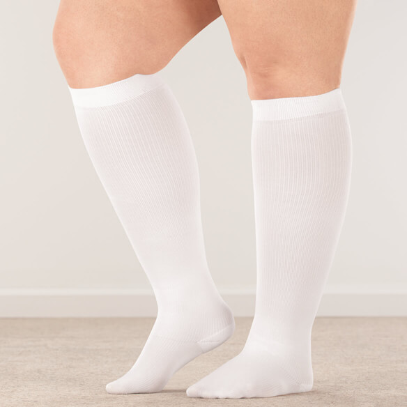 Healthy Steps™ Wide Calf Compression Socks, 15–20 mmHg - View 1