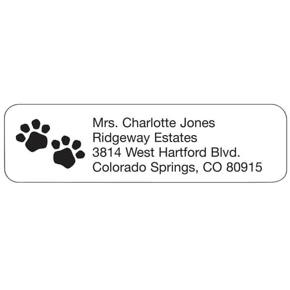 Personal Design Labels Pawprints