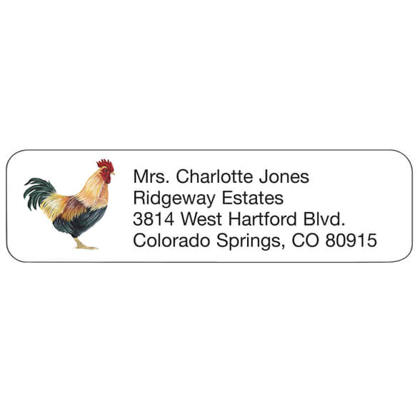 Personal Design Labels Rooster