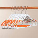 New - Slim Rubberized Hangers, Set of 12