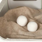 New - Sheep's Wool Dryer Balls, Set of 2
