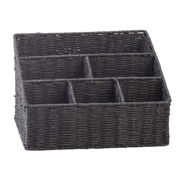 Wicker Mail Sorting Basket - View 1