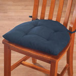 New - Cotton Canvas Chairpad with Ties