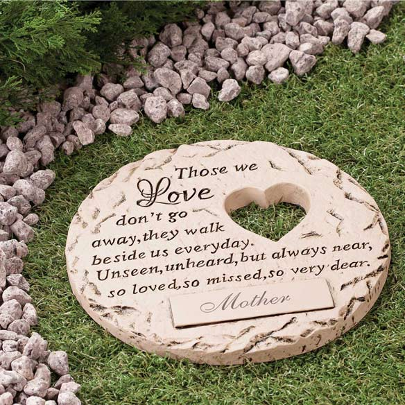 "Personalized ""Those We Love"" Memorial Stone"
