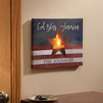 Decorations & Storage - Personalized Lighted Patriotic Canvas by Northwoods Illuminations™