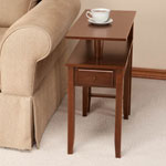 OakRidge Accents - Two-Tier Swivel Table by OakRidge™