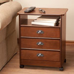 Accent Furniture - Three Drawer Multipurpose Rolling Cart by OakRidge™