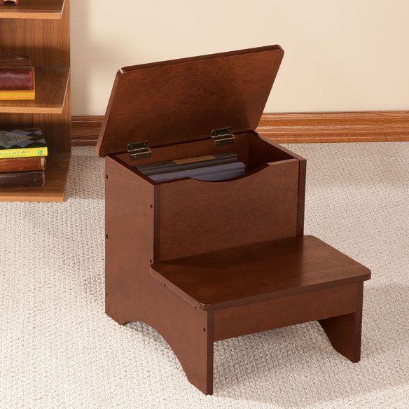 Wooden Step Stool With Storage By OakRidge™   View 1 ...