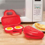 Small Appliances & Accessories - Microwavable Egg Poacher and Omelet Maker, Set of 3