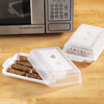 Dorm Deals - Microwave Sausage Cooker with Lid - Set of 2