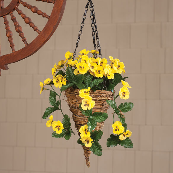 Fully Assembled Pansy Hanging Basket by OakRidge™ Outdoor