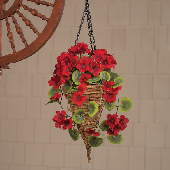 Fully Assembled Geranium Hanging Basket by OakRidge™ Outdoor