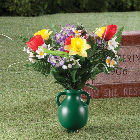 Plastic Cemetery Vases With Stakeseen Plastic Cemetery Vase 36