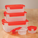 Food Storage - Nested Food Containers, Set of 10