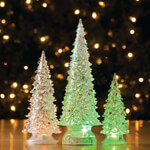 Decorations & Storage - Color-Changing Acrylic Trees, Set of 3