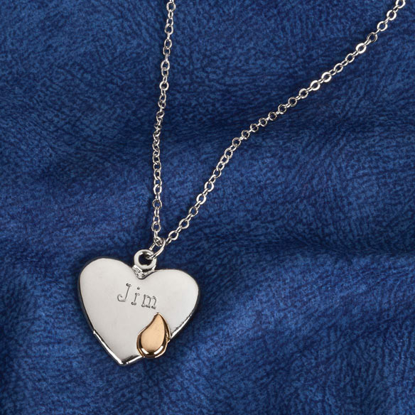 Personalized Teardrop Heart Pendant