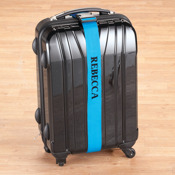 Personalized Blue Luggage Strap