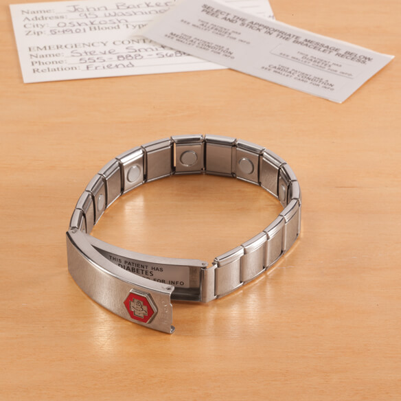 Medical ID Bracelet with Magnets