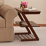 OakRidge Accents - Side Table with Adjustable Shelf by OakRidge™