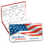 Calendars - Personalized 2 Yr Planner God Bless America Flag