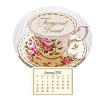 Calendars - Mini Magnetic Calendar Vintage Teacup